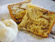 Mちゃん特製ミニ肉まんとコーヒーマーブルシフォンケーキ